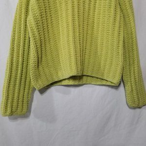 Pure Handknit Sweaters - Pure Handknit thick cotton green pullover sweater